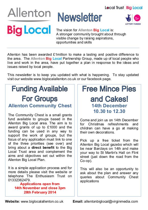 Allenton Big Local Newsletter Nov 2013